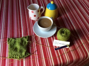 Knitting a peplum top with Malabrigo yarn