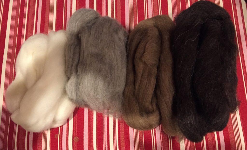 Shetland natural wool fleece