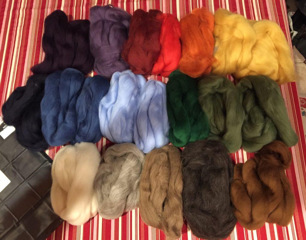 Shetland wool for spinning